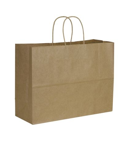 Kraft Paper Shoppers Vogue, 16 x 6 x 12 1/2""