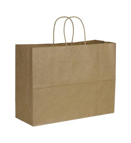 "Kraft Paper Shoppers Vogue, 16 x 6 x 12 1/2"""