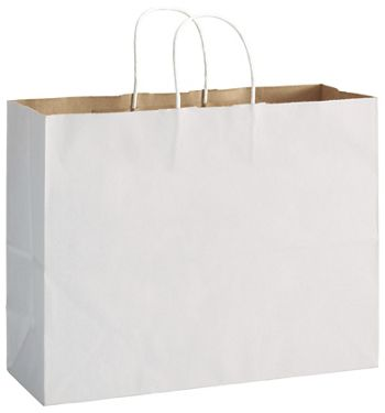 White Duet Shoppers Vogue, 16 x 6 x 12 1/2