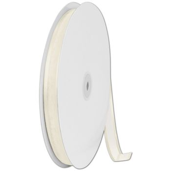 Organza Satin Edge Ivory Ribbon, 5/8