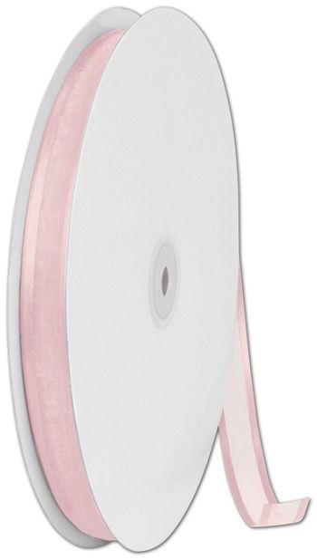Organza Satin Edge Pink Ribbon, 5/8