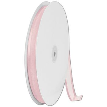 Organza Satin Edge Pink Ribbon, 5/8