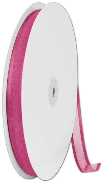 Organza Satin Edge Shocking Pink Ribbon,5/8