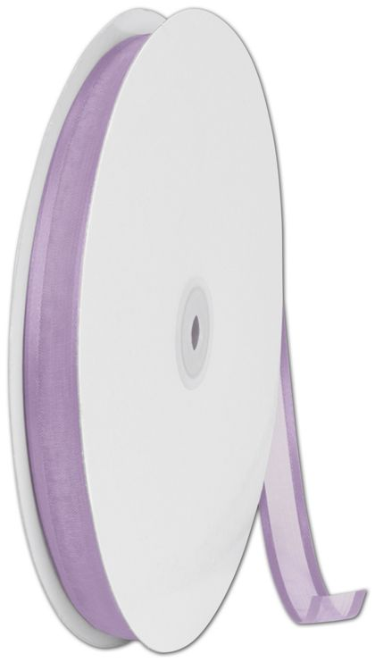 "Organza Satin Edge Lavender Ribbon, 5/8"" x 100 Yds"