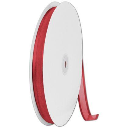 "Organza Satin Edge Red Ribbon, 5/8"" x 100 Yds"