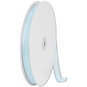 Organza Satin Edge Light Blue Ribbon, 5/8