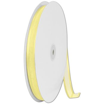 Organza Satin Edge Yellow Ribbon, 5/8