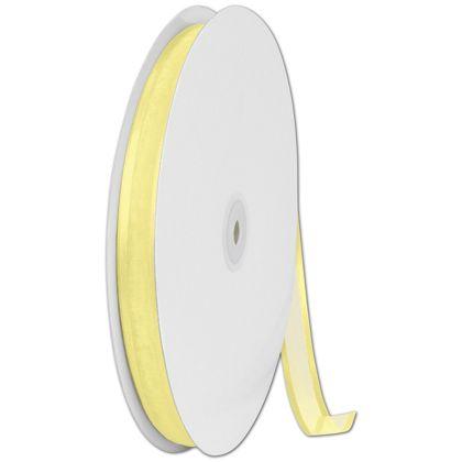 "Organza Satin Edge Yellow Ribbon, 5/8"" x 100 Yds"