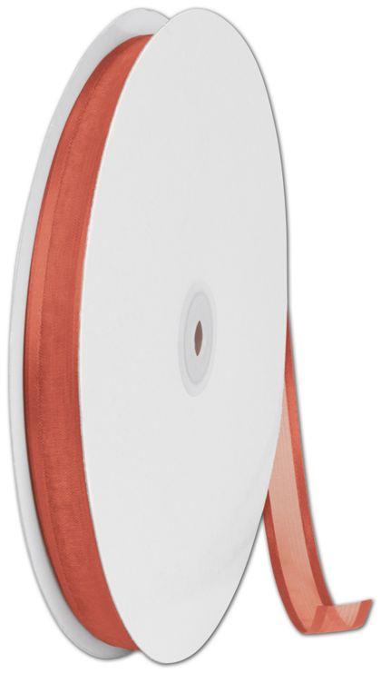 "Organza Satin Edge Autumn Orange Ribbon,5/8"" x 100 Yds"