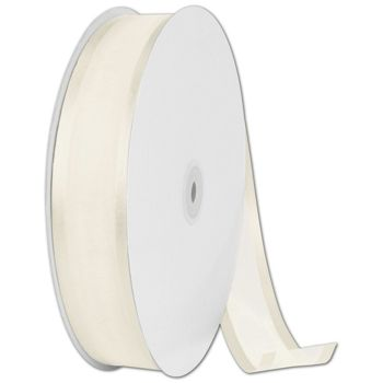 Organza Satin Edge Ivory Ribbon, 1 1/2