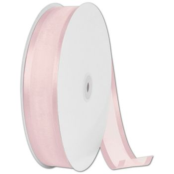 Organza Satin Edge Pink Ribbon, 1 1/2
