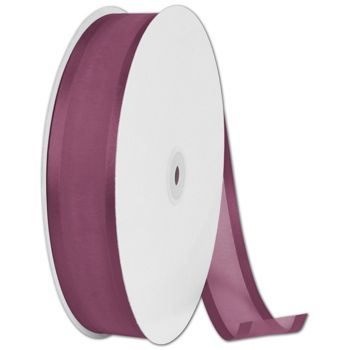 Organza Satin Edge Burgundy Ribbon, 1 1/2