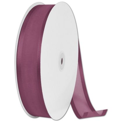 "Organza Satin Edge Burgundy Ribbon, 1 1/2"" x 100 Yds"