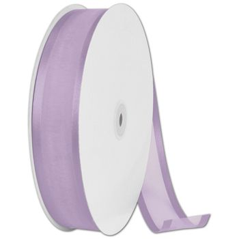 Organza Satin Edge Lavender Ribbon, 1 1/2