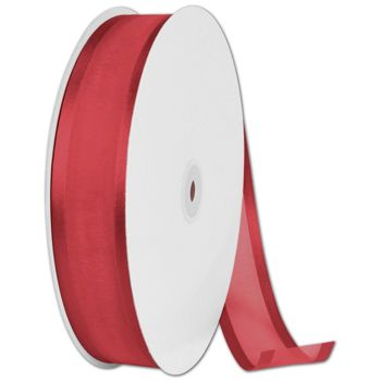 Organza Satin Edge Red Ribbon, 1 1/2