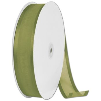 Organza Satin Edge Moss Ribbon, 1 1/2