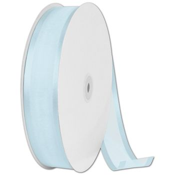 Organza Satin Edge Light Blue Ribbon, 1 1/2