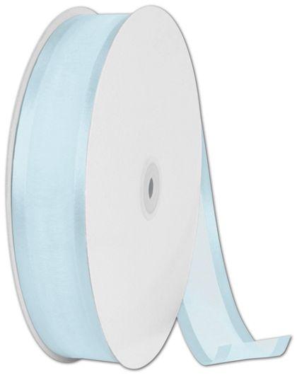"Organza Satin Edge Light Blue Ribbon, 1 1/2"" x 100 Yds"