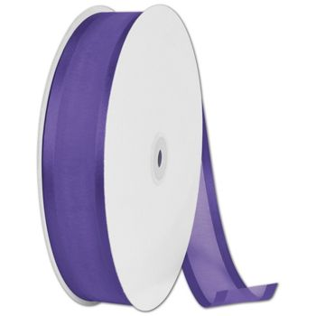 Organza Satin Edge Purple Ribbon, 1 1/2