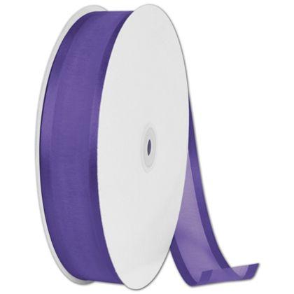 "Organza Satin Edge Purple Ribbon, 1 1/2"" x 100 Yds"