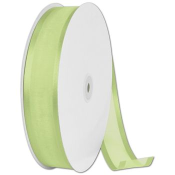 "Organza Satin Edge Mint Ribbon, 1 1/2"" x 100 Yds"