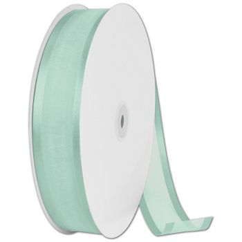 Organza Satin Edge Aqua Ribbon, 1 1/2