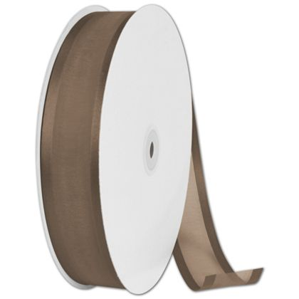"Organza Satin Edge Chocolate Ribbon, 1 1/2"" x 100 Yds"