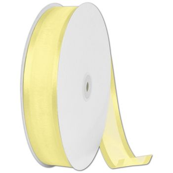 Organza Satin Edge Yellow Ribbon, 1 1/2
