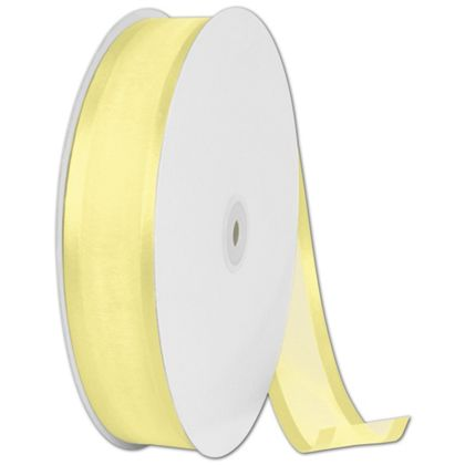 "Organza Satin Edge Yellow Ribbon, 1 1/2"" x 100 Yds"