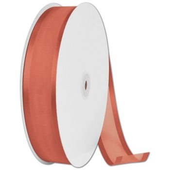 Organza Satin Edge Autumn Orange Ribbon,1 1/2