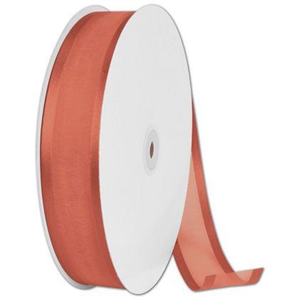 "Organza Satin Edge Autumn Orange Ribbon,1 1/2""x100 Yds"
