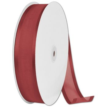 Organza Satin Edge Cinnamon Ribbon, 1 1/2