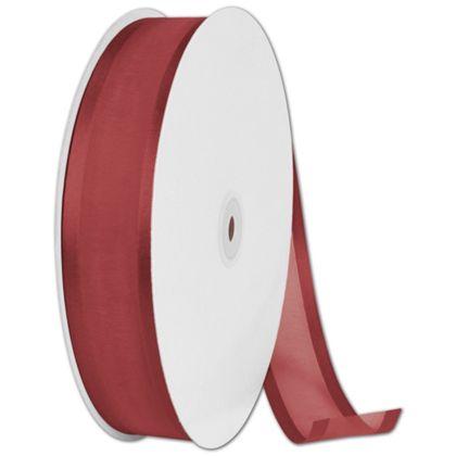 """Organza Satin Edge Cinnamon Ribbon, 1 1/2"""" x 100 Yds"""