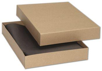 Kraft Premium Two-Piece Apparel Boxes, 11 1/2x8 1/2x1 5/8