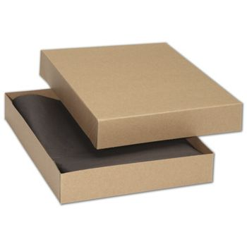 Kraft Premium Two-Piece Apparel Boxes, 11 1/2x8 1/2x1 5/8
