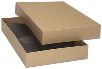 Kraft Premium Two-Piece Apparel Boxes, 17 x 11 x 2 1/2