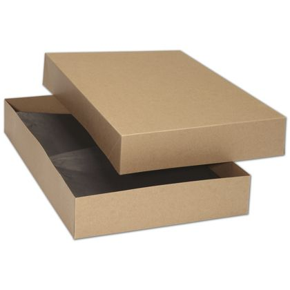 """Kraft Premium Two-Piece Apparel Boxes, 17 x 11 x 2 1/2"""""""