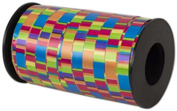 Curling Crazy Stripes Ribbon, 3/8