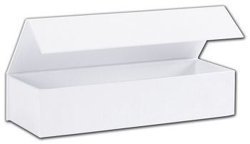 White Malibu Magnetic Boxes, 8 x 2 3/4 x 1 5/8