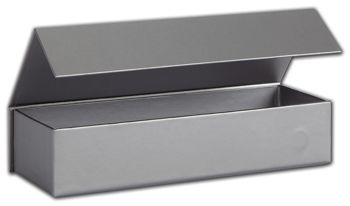 Silver Malibu Magnetic Boxes, 8 x 2 3/4 x 1 5/8