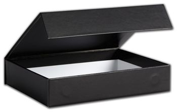 Black Malibu Magnetic Boxes, 7 1/4 x 5 1/2 x 1 3/8