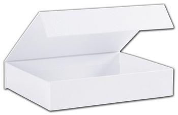 White Malibu Magnetic Boxes, 7 1/4 x 5 1/2 x 1 1/2
