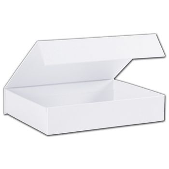 White Malibu Magnetic Boxes, 7 1/4 x 5 1/2 x 1 3/8