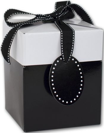 Black Tie Giftalicious Pop-Up Boxes, 3 x 3 x 3 1/2