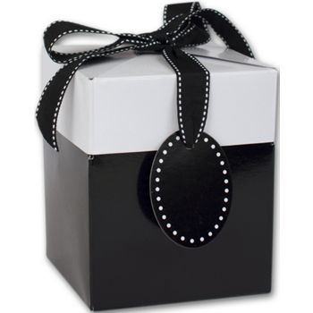Black Tie Giftalicious Pop-Up Boxes, 3 x 3 x 3 1/2""