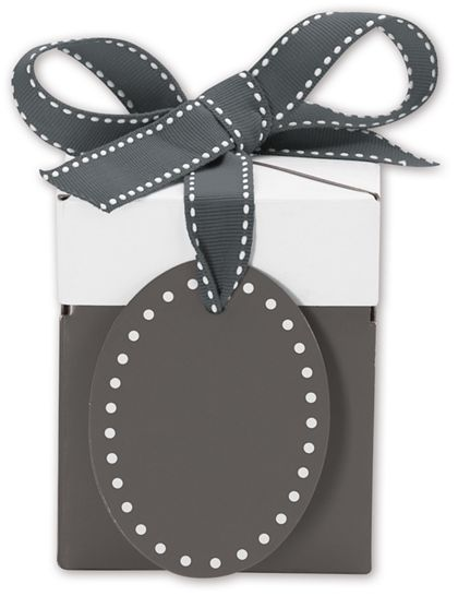 Grad Grey Giftalicious Pop-Up Boxes, 3 x 3 x 3 1/2""