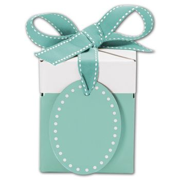 Bottoms-Up Blue Giftalicious Pop-Up Boxes, 3 x 3 x 3 1/2""