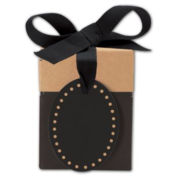 Black & Kraft Giftalicious Pop-Up Boxes, 3 x 3 x 3 1/2""