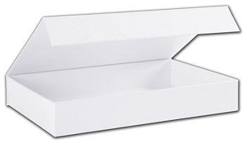 White Malibu Magnetic Boxes, 10 3/4 x 7 1/8 x 1 5/8
