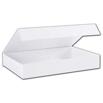 White Malibu Magnetic Boxes, 10 3/4 x 7 1/8 x 1 5/8